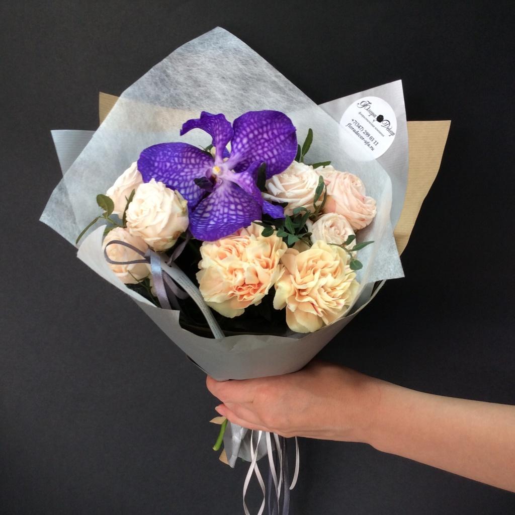 Как упаковать цветы в букет фото